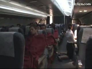 Stewardess cepet passenger & tasting his jago