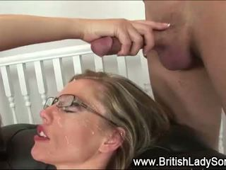 新鮮 團體性交, 有趣 英國的 實, 射液 不錯