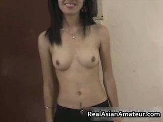 Horny Amateur Asian Cutie Stuffed