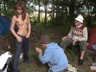 Two старий men ебать a дівчина для її wiskhey