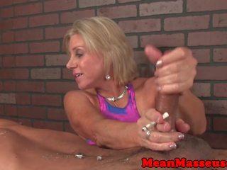 Dominant пантера masseuse dominates клієнт: безкоштовно порно 41