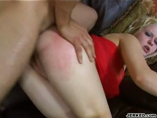 Горещ златен haired aaralyn barra receives тя стегнат дупе rammed трудно