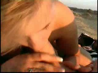 Hot stimulating chick fucked on the beach