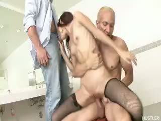 new brunette free, watch blowjob all, rated threesome most