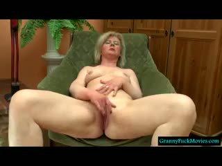 granny, masturbation, blonde