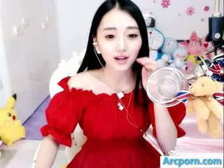 webcam, fille, chinois