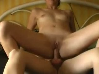 Young Babe Facialized after Riding Bareback on Hubby.