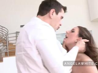 Голям бюст angela бял gets прецака от manuel ferrara