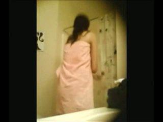 podglądanie, dziecko, prysznic