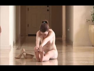 Meghan In Stockings Doing Some BallERina Dancing