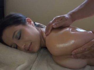 white, girl, massage