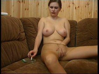 Olga in tan pantyhose