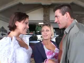 Bröllop trekanter manliga kvinna kvinna