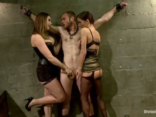 Oustanding meat ติด dude dominated ใน dame เหนือกว่า และ pegging การปฏิบัติ โดย 3 nymphs