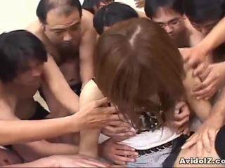 जपानीस बेब touched द्वारा अन्नियाँ men uncensored