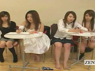 Subtitled Japanese Amateur Quiz Game Friends Watch Sex