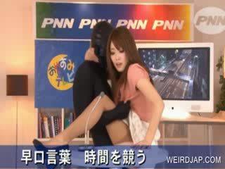 Forró ázsiai gets puss rubbed -ban tv előadás