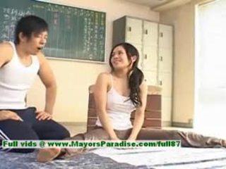 Sora aoi chaud fille charmant chinois modèle enjoys getting teased