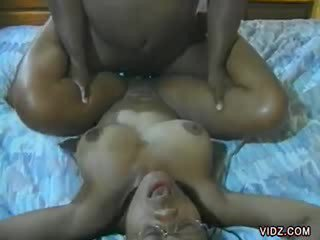 Doll ebony doll surprised with Huge Cock