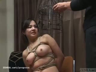 Subtitled יפני cmnf סאדו מאזו nose hook bird כלוב לשחק
