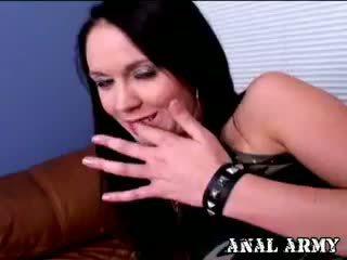 bruneta, webcam, amatér