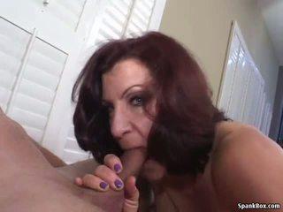 Smoking Mom Gives Hot Blowjob, Free Mature Porn Video 69