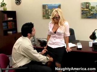 最热 性交性爱, 不错 金发 所有, 大 办公室做爱 看