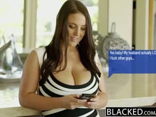 Blacked besar alam tetek australia babe angela putih fucks bbc
