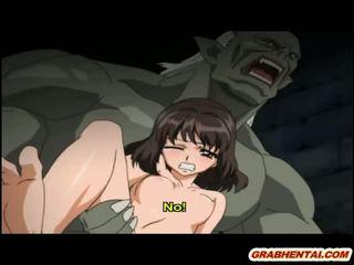 Hentai printesa brutally groupfucked de ghetou monsters