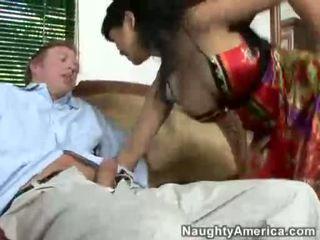 Asian Babe Mika Tan Takes A Hard Jock On This Guyr Mouth