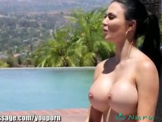 Nurumassage jasmine jae s stepson joins in