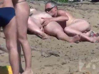 mengisap, voyeur, pantai