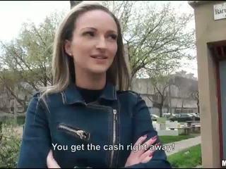 ضيق eurobabe melanie مارس الجنس إلى نقود